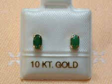 Exclusive Smaragd Ohrstecker 5 x 3 mm - 0,50 ct. - 10 Kt. Gold - 417 - Oval Cut