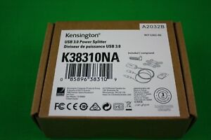 Kensington 60W USB-A Power Splitter for USB C/A Hybrid Docking Stations (K38310N