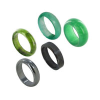 Soapstone Agate Hematite Unisex Band Set with Assorted Ring Sizes 6 to 8.5