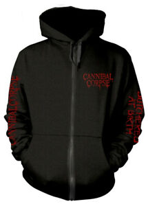Cannibal Corpse 'Butchered At Birth Explicit' (Black) Zip Up Hoodie