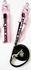 Hello Kitty Pet Black Adjustable Leash Collar X-Small Dogs Puppies New Lot of 2