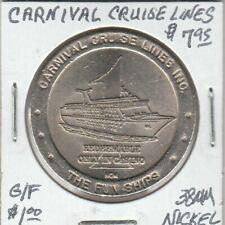 Token - Cranival Cruise Lines Casino Token - G/F $1 - 38 MM Nickel