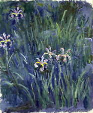Claude Monet Iris Poster Reproduction Paintings Giclee Canvas Print
