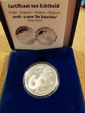 Belgium 2018 5 euro 'The Smurfs' Silver Proof