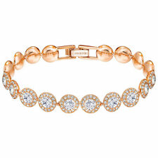 Swarovski Angelic Rose Gold Plated Bracelet - Clear Crystals