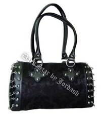 DARK STAR BLACK GOTHIC BROCADE HAND BAG