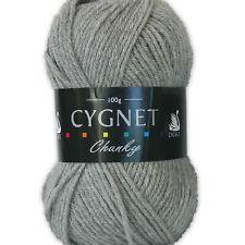 Cygnet Chunky Cheap 100 Acrylic Knitting Yarn / Wool 100g Light Grey 195
