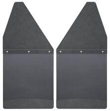 Husky 17101 KickBack Mud Flaps Black Top & Black Weight Chevy Silverado 1500