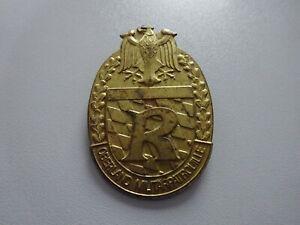 (A12-AD15) Bundeswehr Reservisten Abzeichen OBERLAND MILITÄRPATROUILLE gold