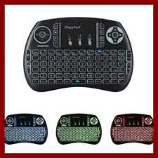 Ipazzport 2.4Ghz Backlit Mini Wireless Keyboard W Touchpad Mouse Combo Rechargab