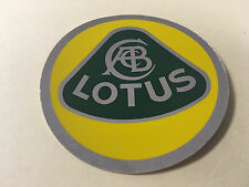 "Lotus F1 chrome yellow/green roundel 3"" sticker decal"