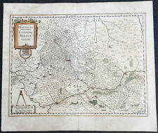 1628 Henricus Hondius Antique Map Beauvais Region of Northern France, Oise River