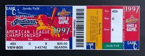 1997 ALCS Game 5 Baltimore Orioles vs Cleveland Indians Ticket Stub 10/13/97