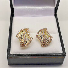 Lovely 18ct Gold Ladies Cubic Stud Earrings.  Goldmine Jewellers.