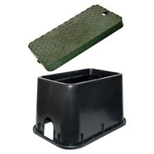 "Ez-Flo 70162 Rectangle Valve/Meter Box 10"" Blck with Green Lid"