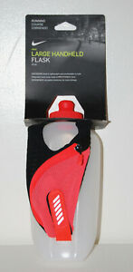New! Nike Orange Large Handheld Flask 20oz with Zip Pocket