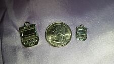 Court reporter steno machine stenographer charm pewter jewelry gift small charm