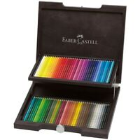 #110072 Faber Castell Wooden Case of 72 Polychromos Art Pencils Assorted Colours