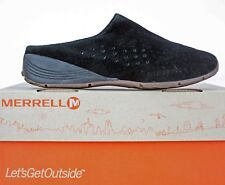 Merrell Womens Mules size 7 M Slipstream Black Suede Perforated Slide WF47