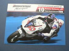 INFO FAN CARD KENNY ROBERTS WEGRACE ROADRACE TEAM SUZUKI MOTO GP 10 BRIDGESTONE