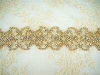 Sequin Gold Rhinestone Applique Beaded Applique Diamante Wedding Appliques