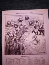 Sa24 Ephemera 1916 ww1 cartoon calendar