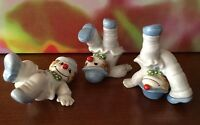 Fitz Floyd // Set Of Three Tumbling Clowns Figurines // Hand Painted