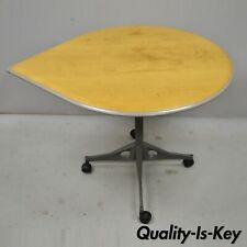 Herman Miller Teardrop Everywhere Roll Around Dining Work Table on Casters