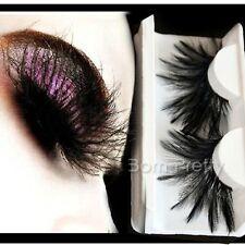 1 Paar Feder Muster künstlich Falsche Wimpern Lang Curly False Eyelash #Y110