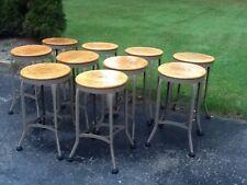 "Vintage Industrial 26"" Toledo Stool -15"" Wood Seat - Very Nice"