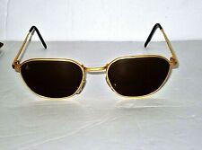 Vintage i'S Bausch & Lomb Brass Sunglasses Frame Glass Lens NICE!