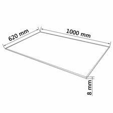Vidaxl dessus de table rectangulaire en Verre Trempé 1200 x 650 mm
