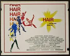 HAIR 1979 ORIGINAL 22X28  MOVIE POSTER JOHN SAVAGE TREAT WILLIAMS