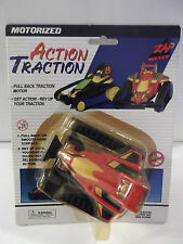 """ZAP TOYS """"ACTION TRACTION"""" RED#3 PULL BACK TRACTION MOTOR REV UP TRACTION"""