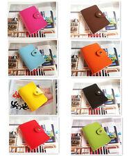 Leather Card Holder Case Wallet Handbag Purse Pocket Business ID Credit Cards