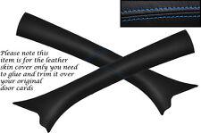 Blue stitch 2x PARE-BRISE un pilier de la peau couvrir fits Vauxhall Opel Corsa C 00-06
