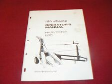New Holland 880 Forage Harvester Operator's Manual WPNH
