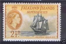 Falkland Is.Dep.1954 2.5d Black & yellow SG G30 MNH