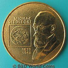 2001 POLAND 2 ZLOTE MICHAL SIEDLECKI ZOOLOGIST POLISH WORLD COIN BRASS 8gr 27mm