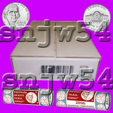 2006 2X5 Jefferson Return to Monticello Nickel P&D Rolls Sealed Mint Box-5c Cent