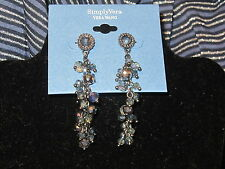 earrings long dangling medium blue cluster Simply Vera Wang Nwt $22 women's