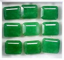 90.50 Ct Natural Certified Colombian Green Emerald Loose Gemstone Lot 9Pcs