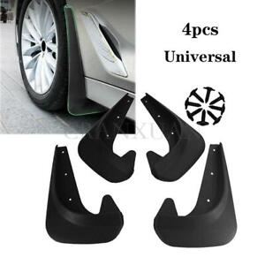 4Pcs Black ABS Plastic Car Fender Mud Flaps Mudguards Splash Guards Accessories