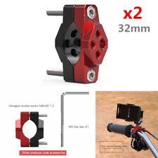 2x CNC Aluminum Motorcycle Handlebar Frame Clamp Bracket Light Phone Mount Stent