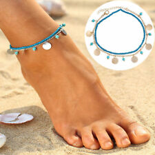Sandal Anklets Beads Bracelet Jewelry Turquoise Bead Beach Foot Adjustable Chain