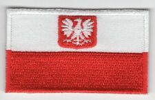 Poland Eagle Flag Patch Embroidered Iron On Applique Polish