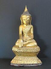 Antique Bouddha Shan en Bois doré de BIRMANIE