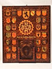 BDDA Bank der Deutschen Arbeit AG Werbetafel Abreiß Kalender Holz 1936 - 1945
