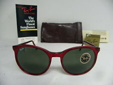 New Vintage B&L Ray Ban Traditionals Style C Red Crystal W0666 Round  USA NOS