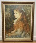 "Vintage Portrait Of Mademoiselle Irene Cahen D'Anvers Signed Framed 28.5""x23"""